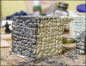 Painted stone for castle