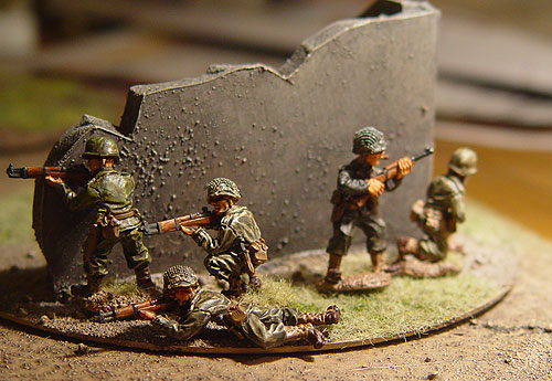 WW2 US Infantry painted wwii